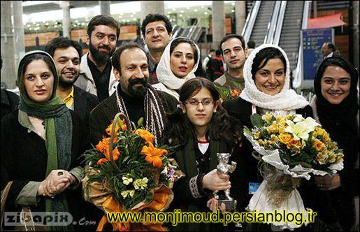 استقبال مردمی از اصغر فرهادی در فرودگاه تهران