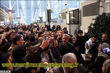 فرودگاه و استقبال از اصغر فرهادی
