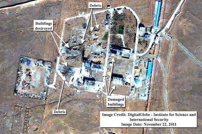 تصاویر ماهواره ای از پادگان سپاه پاسداران