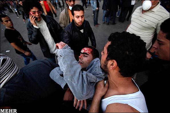 درگیری مردم و نظامیان مصر